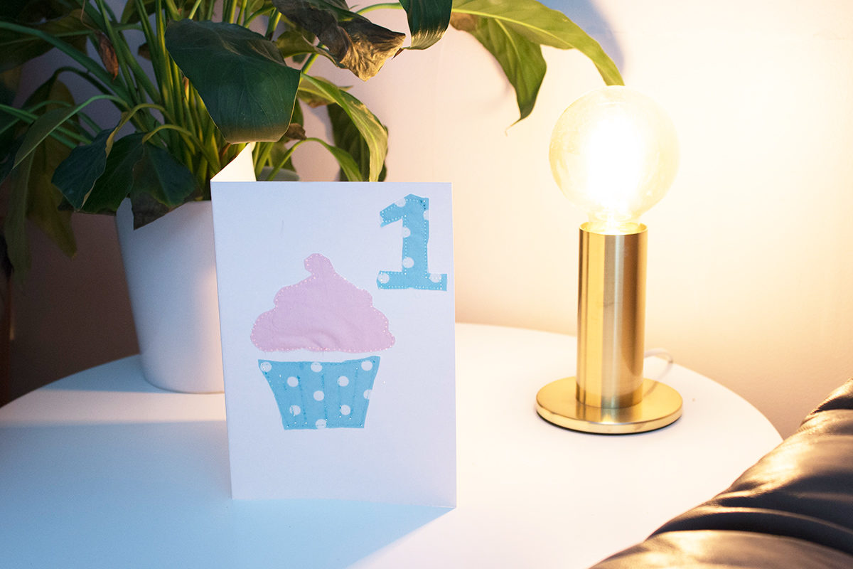 Sew As You Grow - Cupcake Birthday Card
