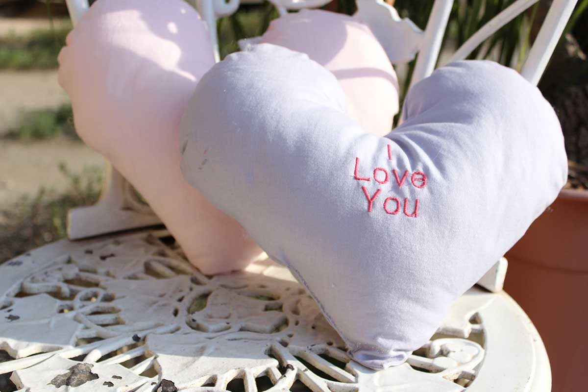 Singer Candy Heart Cushions