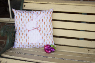 Easter Bunny Applique Cushion
