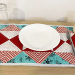 Flying Geese Christmas Placemat or Mini Table Runner